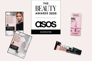 Iroha Nature at the final of The Beauty Awards 2020 Asos with 4 products